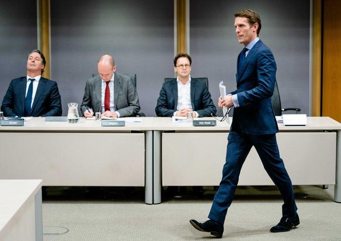 Maarten Rijssenbeek, voormalig projectleider van het Financieel Expertise Centrum (FEC), tijdens de de openbare verhoren van de parlementaire ondervragingscommissie.