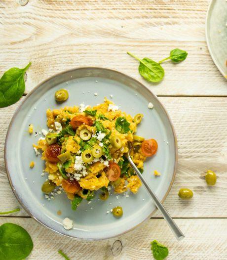 Wat Eten We Vandaag: Zoete aardappelstamppot met spinazie
