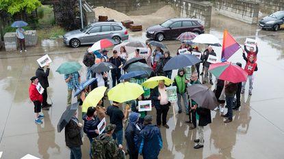 Buurtbewoners voeren actie voor 'eerlijke democratie'
