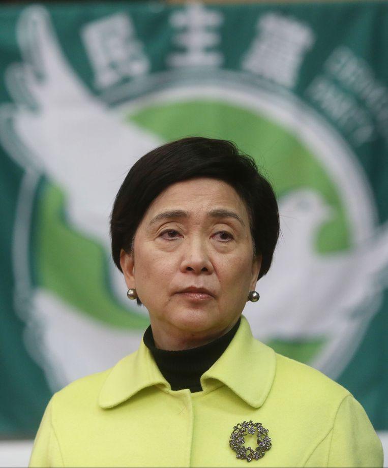 Emily Lau: 'Ook mensen die geen geweld gebruikten worden gearresteerd en opgesloten.' Beeld Getty Images