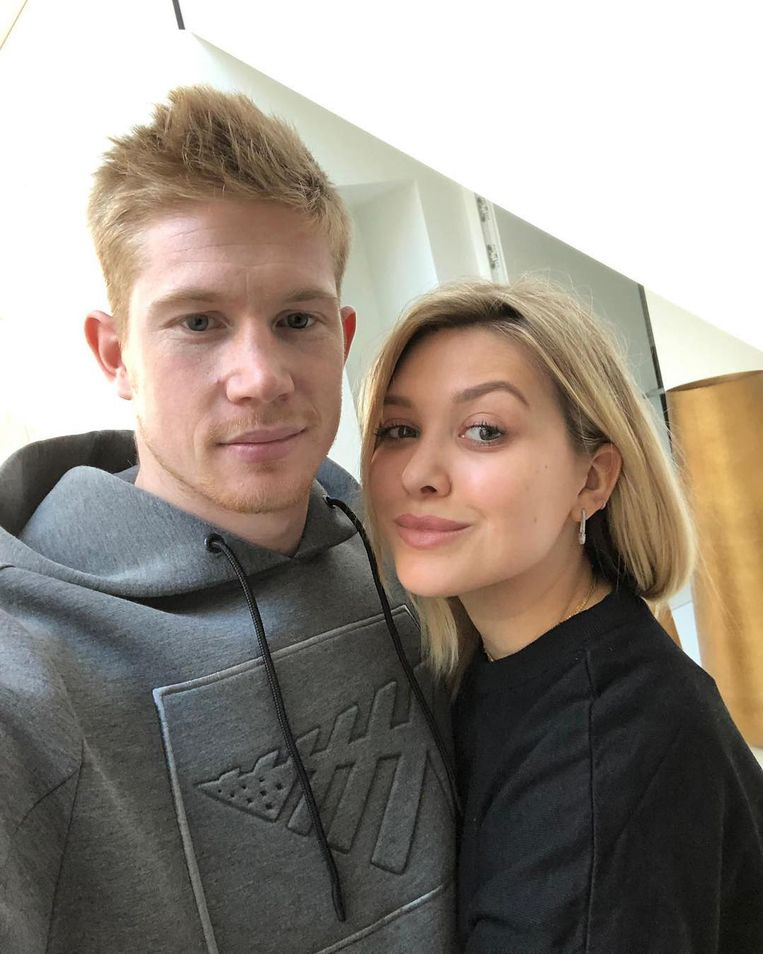 Kevin De Bruyne met zijn partner Michele