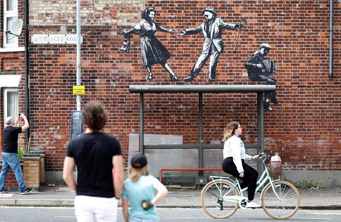 Le streetart que Banksy a réalisé pendant ses vacances sur la côte britannique de la mer du Nord.