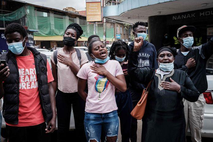 1 mei-protest in Kenia.