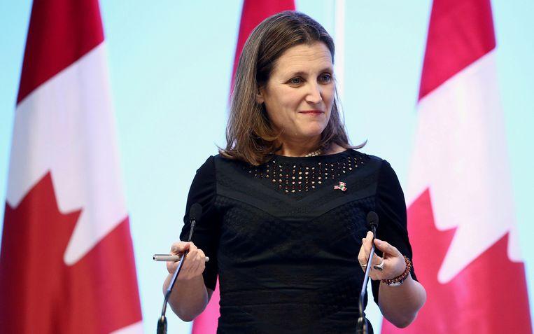 De diplomatieke rel begon na een kritische tweet van Canadees minister van Buitenlandse Zaken Chrystia Freeland. Beeld REUTERS