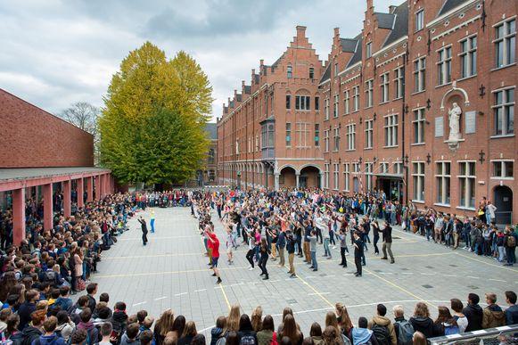 Onder meer in het Sint-Romboutscollege in Mechelen is de stakingsbereidheid groot.