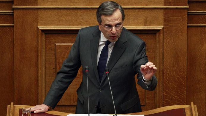 Le Premier ministre Antonis Samaras