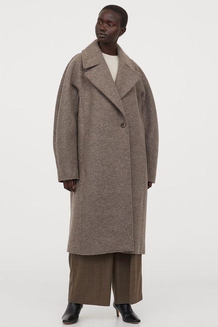 Manteau long en laine