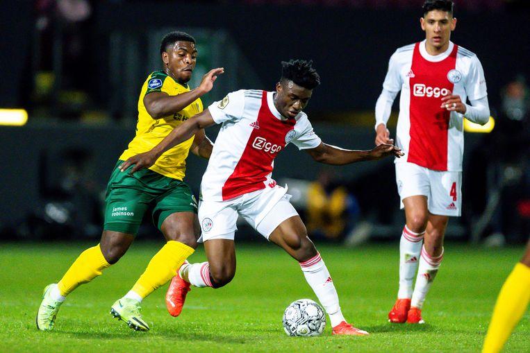Na een lange periode vol blessureleed was Mohammed Kudus tegen Fortuna Sittard weer van de partij. Beeld Pro Shots / Marcel van Dorst