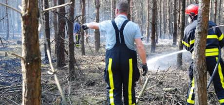 Natuurbrand bij Lage Mierde