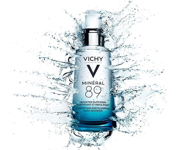 La combinaison de l'Eau Volcanique de Vichy, concentrée pour la première fois à 89%, et de l'acide hyaluronique d'origine naturelle. Disponible en pharmacie et parapharmacie. Prix: 23,95 euros.