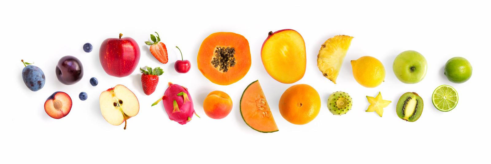 Door een eetbare laag blijft vers fruit langer goed.