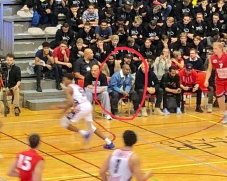 Kanye West kwam in Houthalen naar het basketbal kijken.