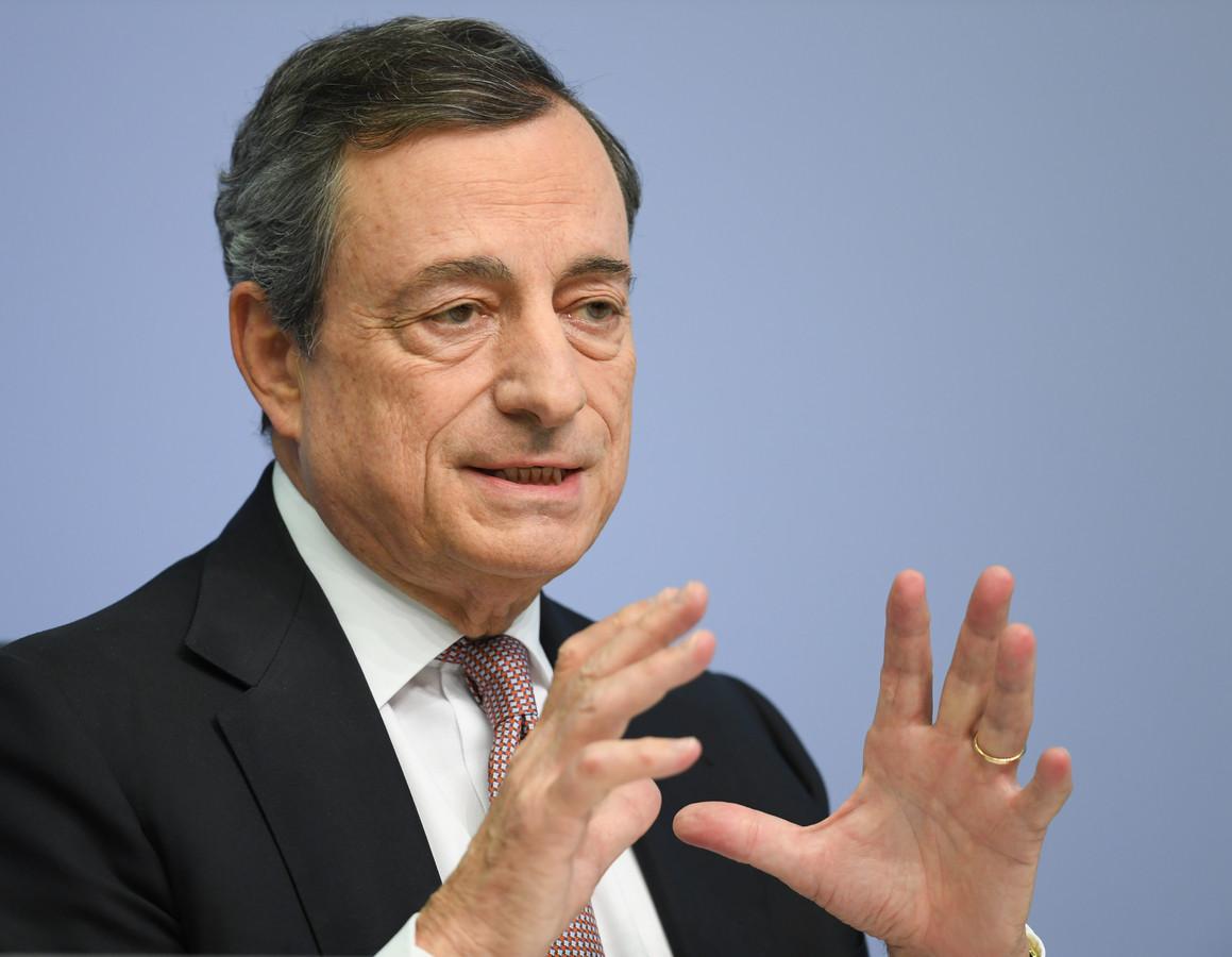 Mario Draghi, president van de Europese Centrale Bank.