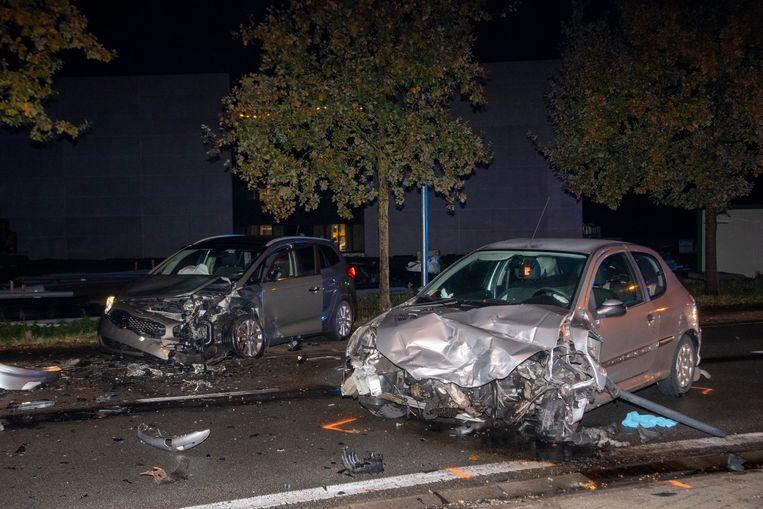 Ongeval Salisburylaan: beide wagens zijn rijp voor het schroot