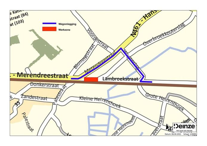 De Lambroekstraat wordt vanaf morgen afgesloten voor het verkeer.
