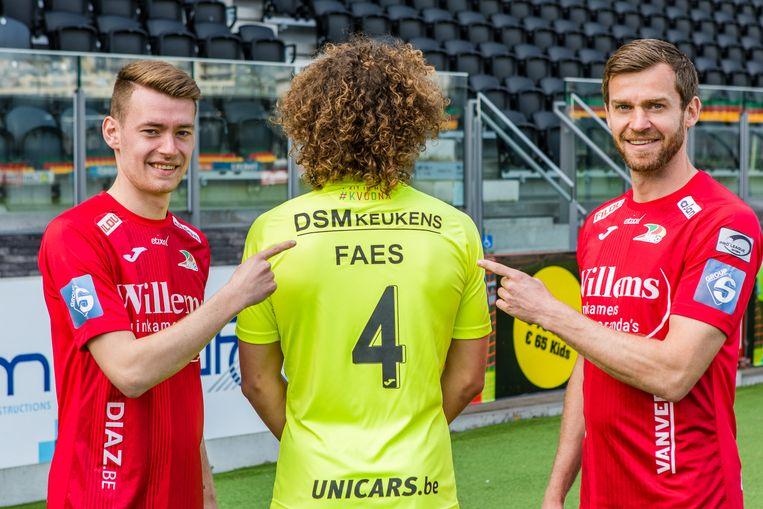 Sander Coopman, Wout Faes en Nicolas Lombaerts presenteren de nieuwe sponsor