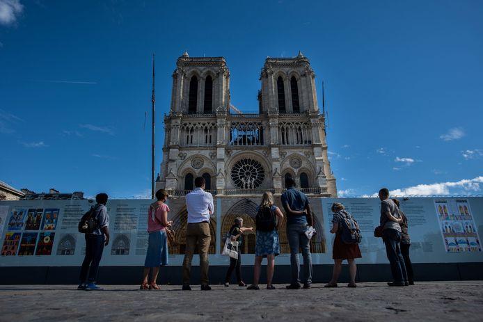 Na de brand die twee jaar geleden plaatsvond, liep de Parijse kathedraal Notre Dame grote schade op.
