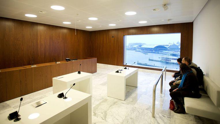 De zittingzaal van het nieuwe Paleis van Justitie. Beeld ANP