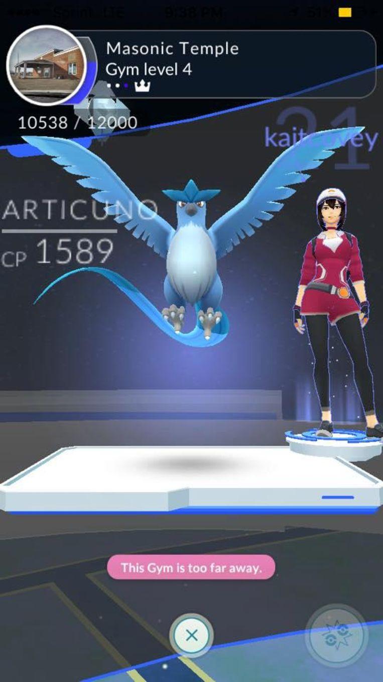 Niantic heeft enkele legendarische Pokémon, zoals deze Articuno, van spelers afgenomen. Beeld rv
