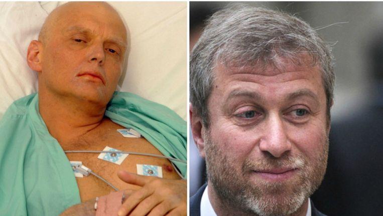 Alexander Litvinenko overleed op 23 november 2006. Rechts: Roman Abramovich. Beeld afp - reuters