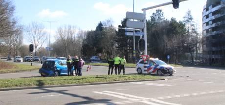 Aanrijding met politiewagen op de Europaweg