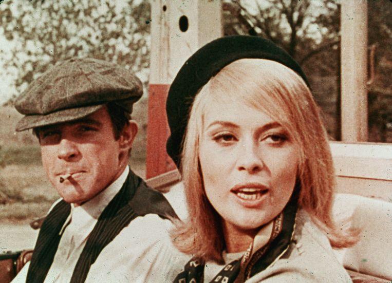 Warren Beatty en Faye Dunaway in 'Bonnie and Clyde'. Beeld Getty Images