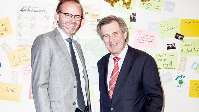 Oramdirecteur Kees Noorman en Oramvoorzitter Paul Wevers. Noorman: 'De grenzen van de 33 gemeenten in de metropoolregio passen eigenlijk niet meer.' Beeld Linda Stulic