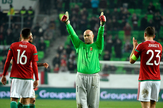 Király bij zijn afscheid van de Hongaarse nationale ploeg. Hij speelde 108 interlands.