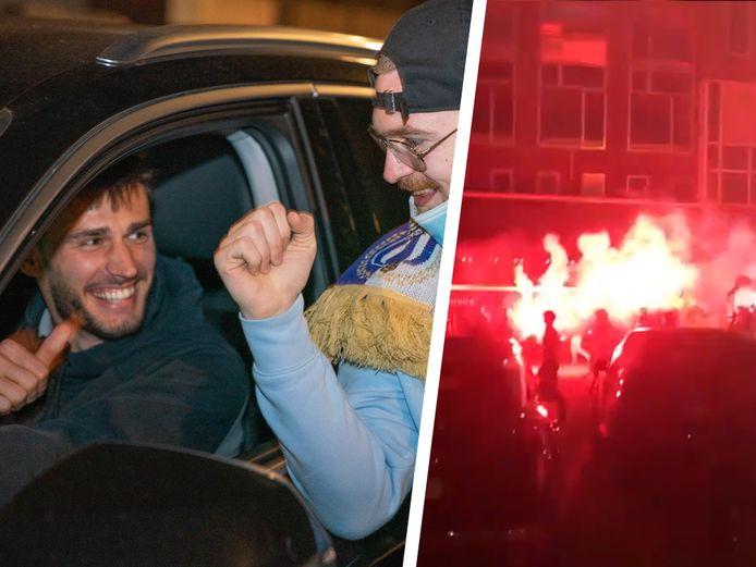 Vreugde bij zowel de Anderlecht- als Waasland-Beveren-supporters.