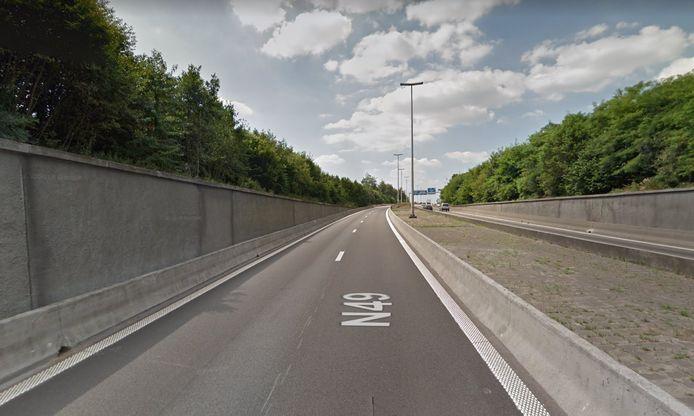 Het ongeval gebeurde juist voor de tunnel richting de E34