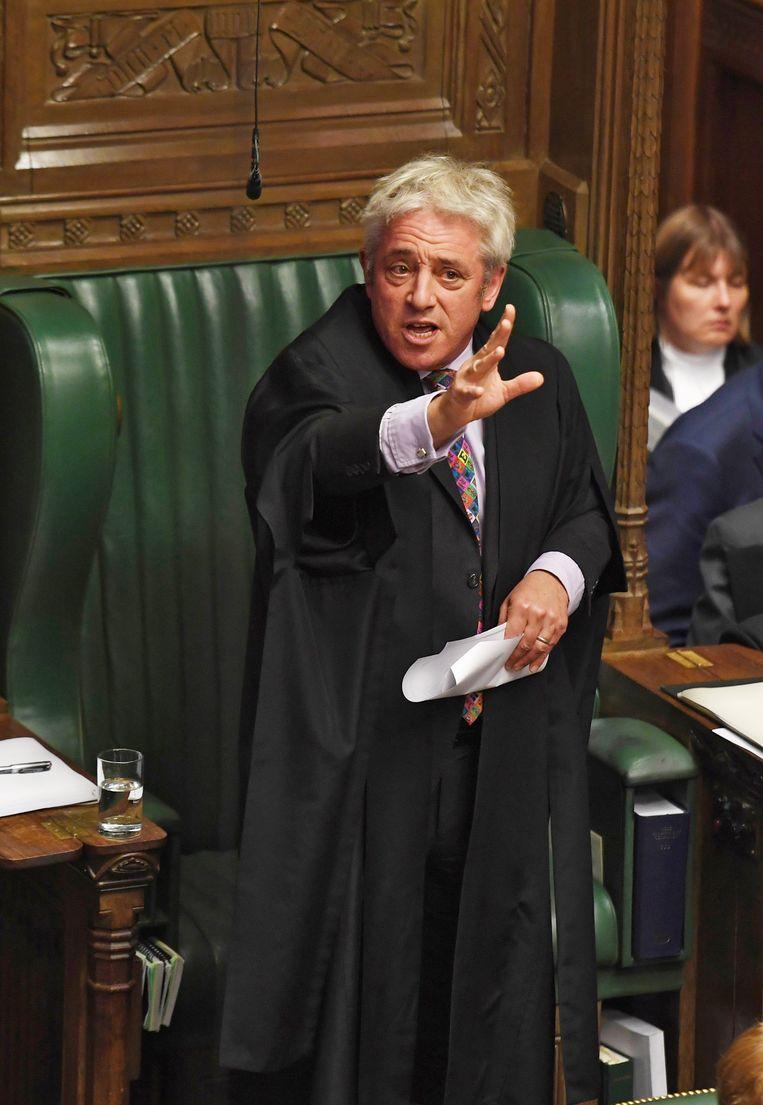 Als speaker drukte Bercow steevast zijn stempel op de debatten in het Britse Lagerhuis. Beeld EPA