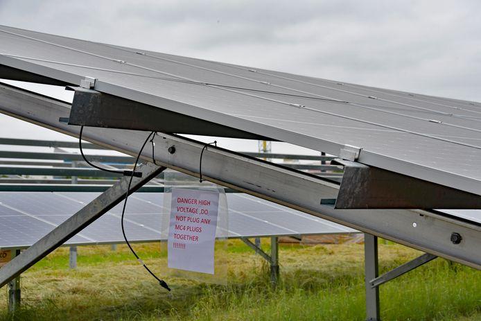 Een zonnepark. Foto ter illustratie.