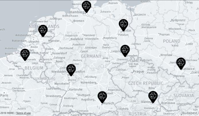 Rammstein noemde Apeldoorn in één zucht met steden als München en Hamburg.