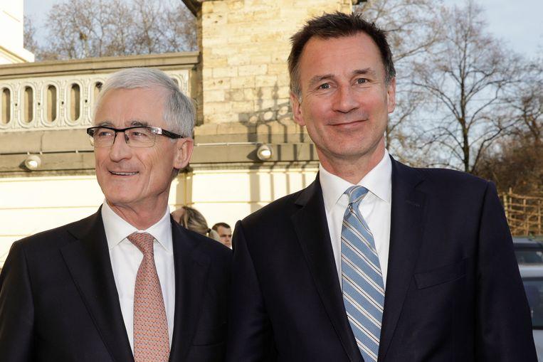 Vlaams minister-president Geert Bourgeois en de Britse buitenlandminister Jeremy Hunt