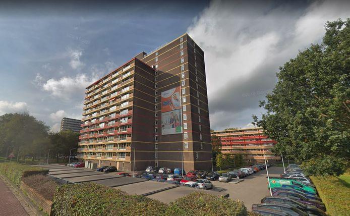 De flat aan het Haagsebos in Zoetermeer waar waarschijnlijk een terreurverdachte woonde.