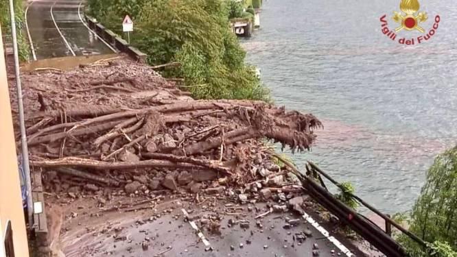 Hevige regenval teistert nu ook Noord-Italië: beelden tonen hoe straten veranderen in rivieren met kolkende modderstromen