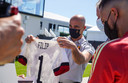 TUBIZE, BELGIUM - JUNE 10 : Royal visit of King Philip at the basecamp of the Belgian Red Devils in Tubize prior to the 16th UEFA 2020 European Football Championship on June 10, 2021 in Tubize, Belgium, 10/06/2021 ( Photo by RBFA / Photonews