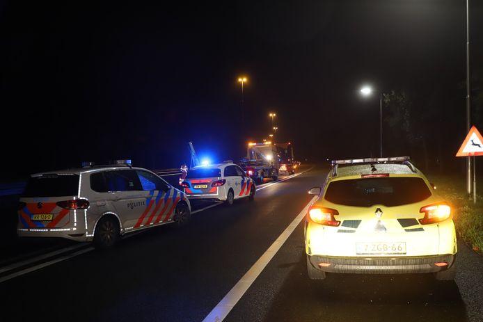 Ongeval wegafzetting A2 Boxtel.