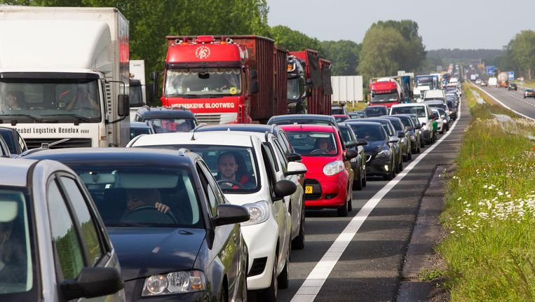 Wegverkeer in Nederland. Beeld anp
