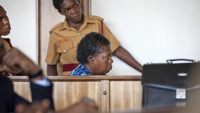 Rosemary Namubiru (64) in de rechtszaal.