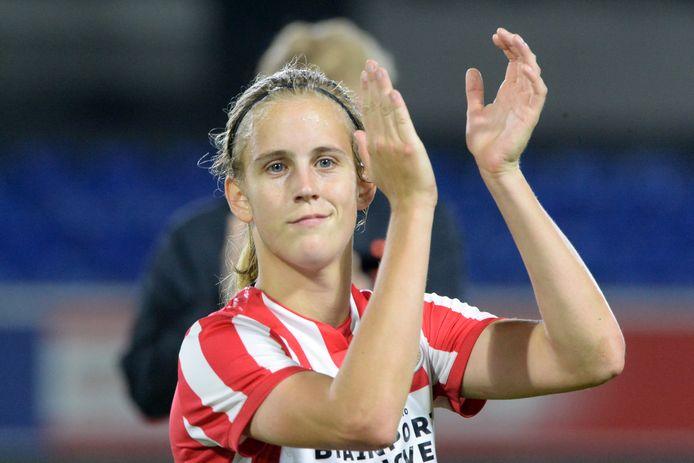Katja Snoeijs maakte de enige treffer tegen ADO Den Haag.