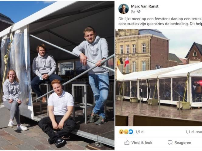 De Terrasse mag blijven staan, maar wel extra maatregelen voor 'feesttent' na kritiek van Van Ranst
