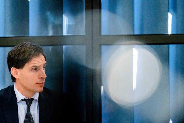 Minister Hoekstra, dinsdag in Den Haag. Beeld EPA