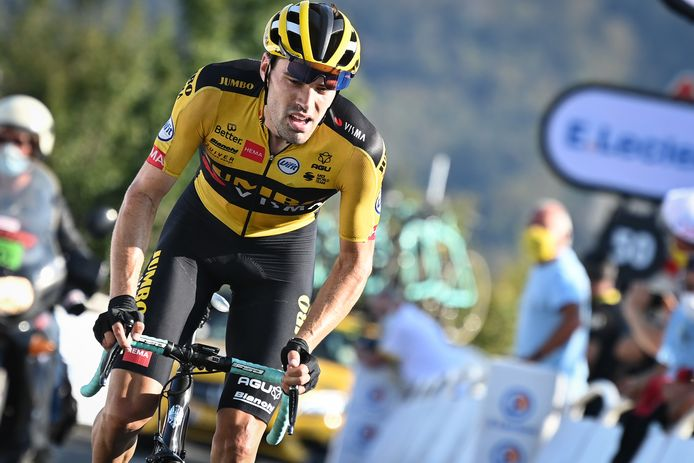 Tom Dumoulin in actie in de Tour de France.