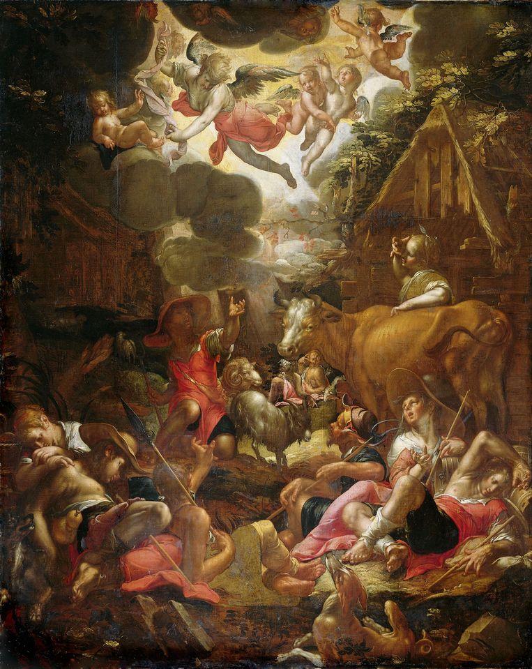 Joachim Wtewael: De verkondiging aan de herders, 1606, Olieverf op doek, 170 x 136 cm. Beeld Collectie Rijksmuseum