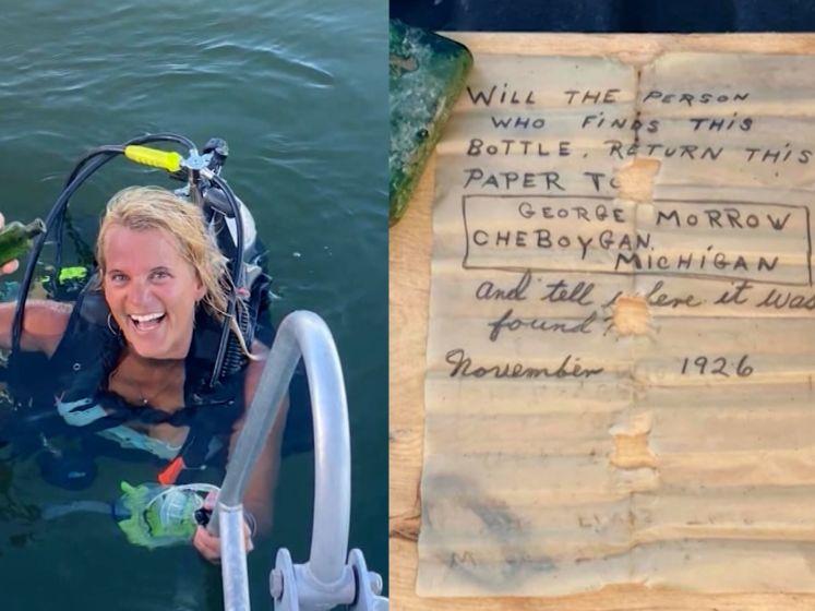 Duikster vindt 95-jarige brief op de bodem van een meer