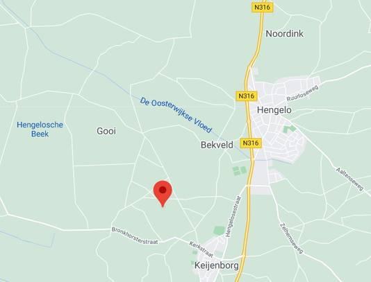 De Steenderenseweg ligt in het buitengebied (zie rood icoontje).