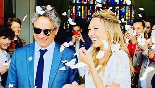 Laura Smet à son mariage, en juin 2019.