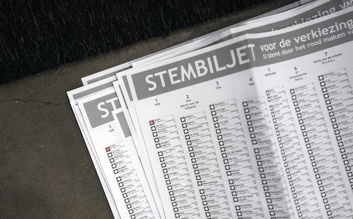 Stembiljetten, foto ter illustratie.