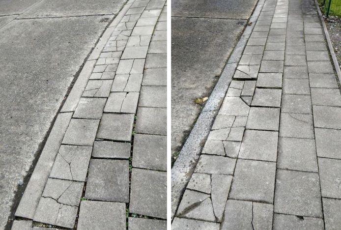 De voetpaden in de Oostwijk zijn dringend aan vernieuwing toe.